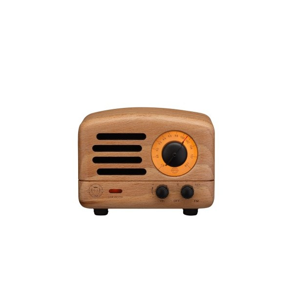 Muzen OTR Wood Wireless Bluetooth Speaker complimentary TY Beanie Boos 6in Reg Set
