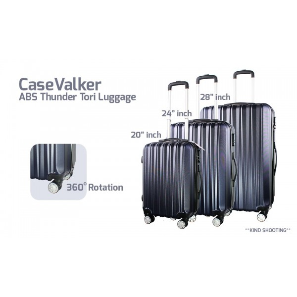 "CaseValker ABS Thunder Tori 20""+ 24"" + 28"" Luggage Bag"