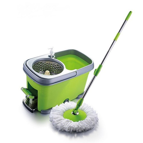 Easy Spin Microfiber Mop Stainless Steel Basket & Pedal Pai