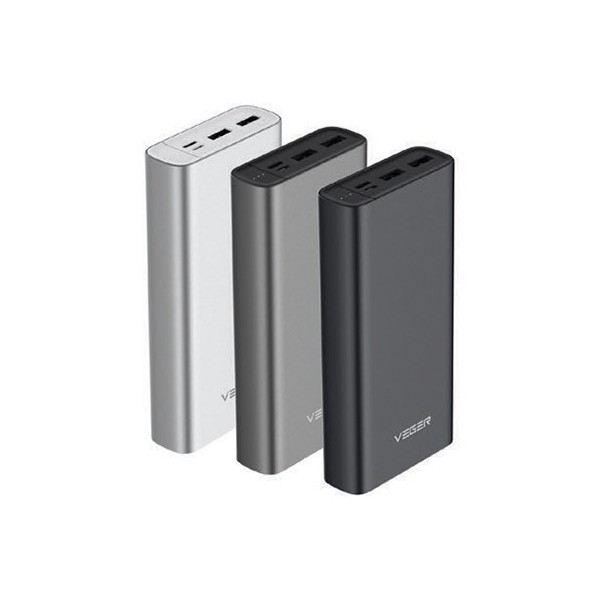 Vegar Aluminium Body Power Bank 20,000mAh
