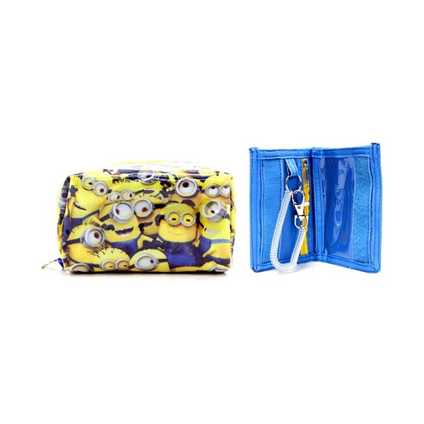 Minions Multi-purpose Pouch & 2- Folded Wallet Set