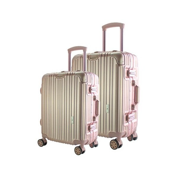 CaseValker Royale Alu-Frame PC+ABS Luggage Bag with TSA Lock - 2in1