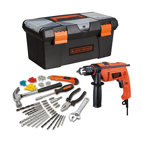 Black & Decker 650w Hammer Drill Set