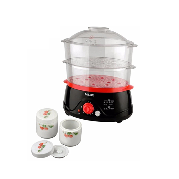 Milux Food Steamer cum Double Boiler