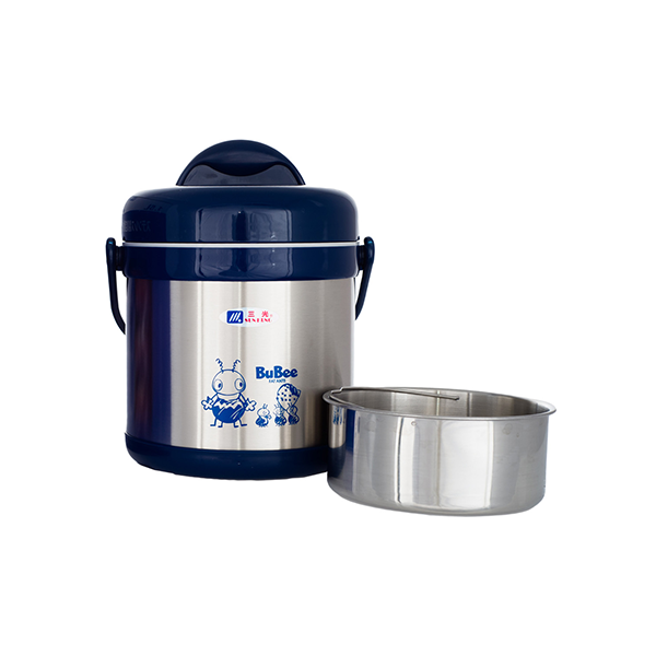 Bubee 1.5L Two Layers High Stainless Steel Vacuum Pot