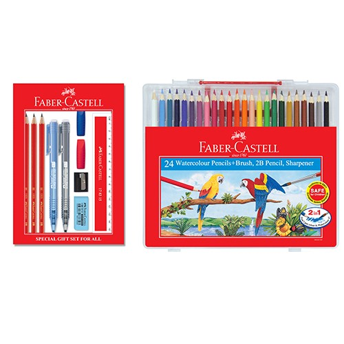 Faber-Castell Special Gift Set for All & Watercolour Pencils