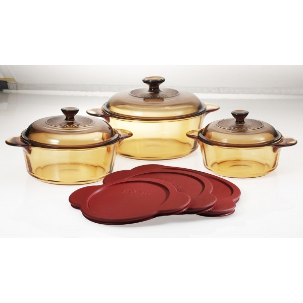 Visions 6pcs Versapot Set With Plastic Covers