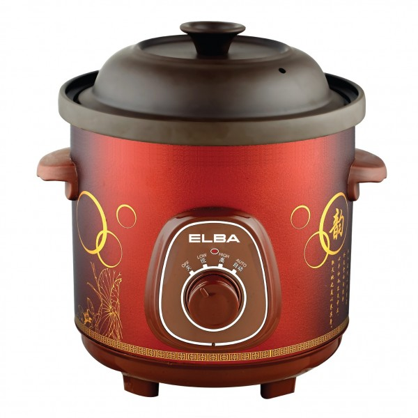 Elba 5L Purple Clay Slow Cooker