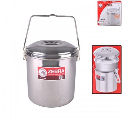 Zebra 16cm Auto Lock Loop Handle Pot