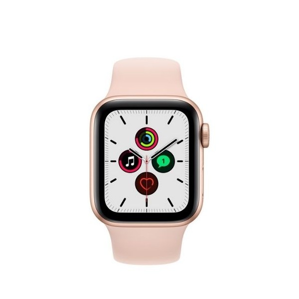 Apple Watch SE 40mm GPS Gold Aluminium Case with Pink Sand Sports band