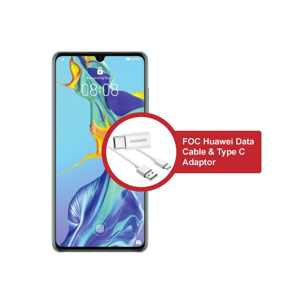 Huawei P30 + Huawei Data Cable & type c adaptor