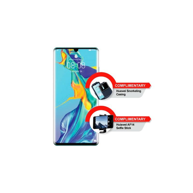 Huawei P30 Pro + Snorkeling Casing+ AF14 Selfie Stick - 3ex