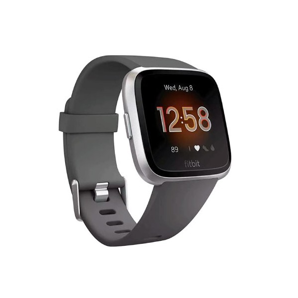 Fitbit Versa Lite Charcoal Silver Aluminum FB415SRGY