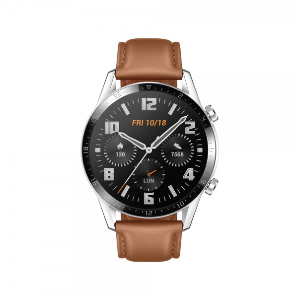 Huawei watch GT2 46MM (PEBBLE BROWN LEATHER STRAP)